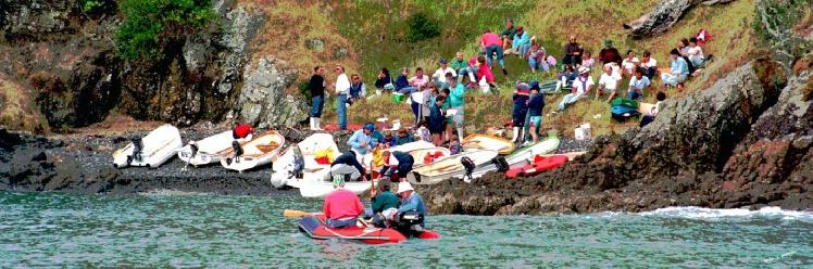 Boaties picnic Onetangi Waiheke Island New Zealand