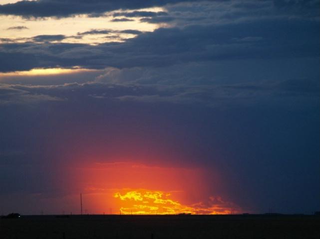 Amarillo Sky on Fire:aka Sunset over Texas