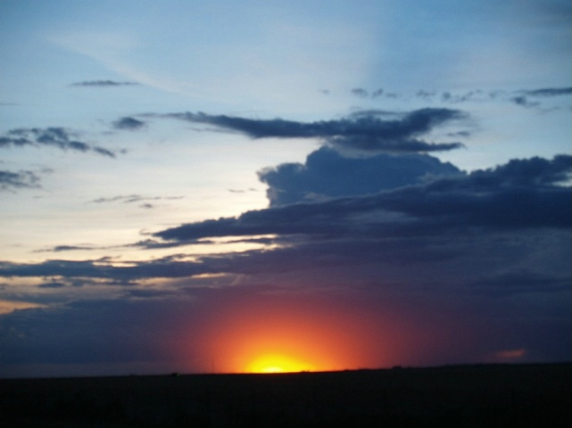 Unretouched Sunset over Amarillo - August 12, 2006