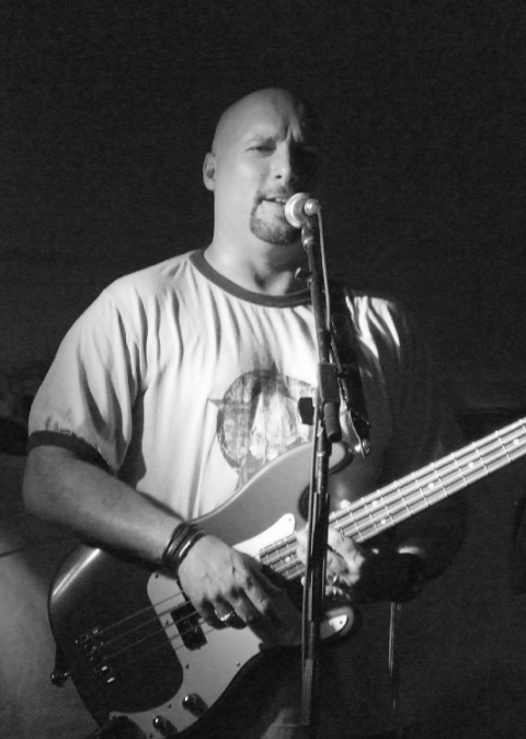Bass Player in B&W