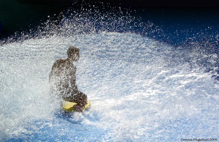 Rider Beyond the Spray