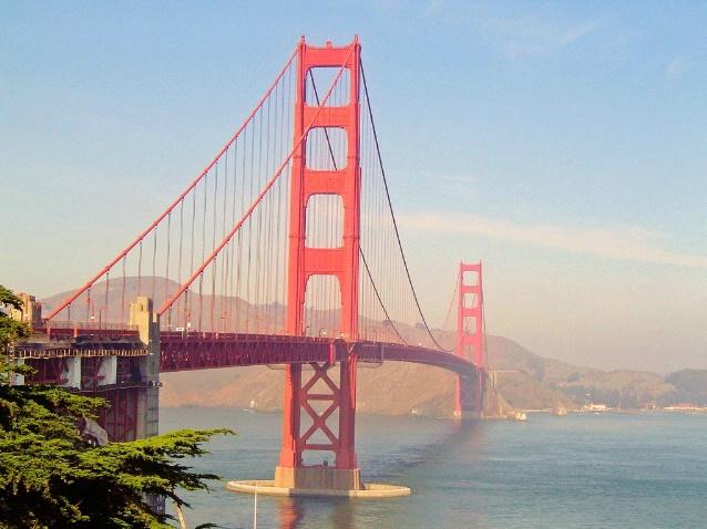 Sunny day at the Golden Gate Bridge, San Francisco