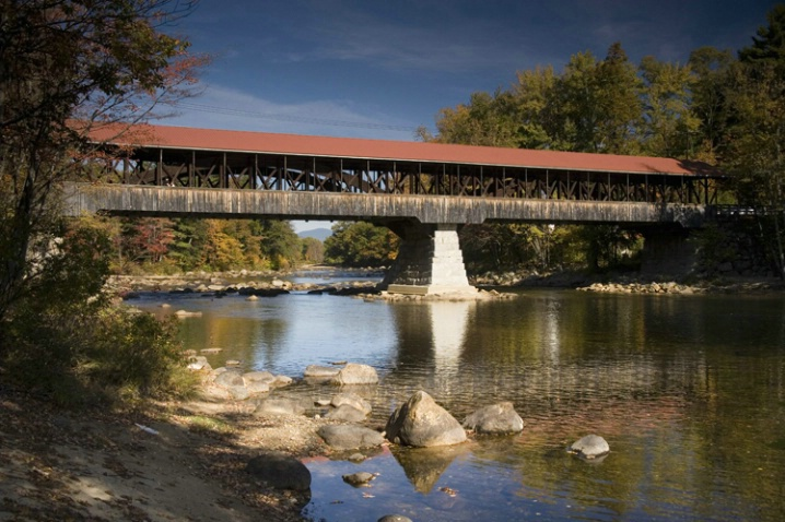 Covered bridge, N Conway, NH