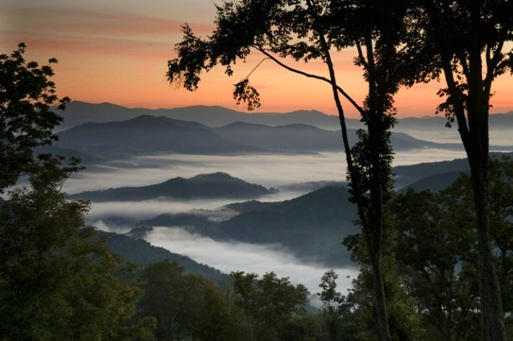 presunrise above the clouds