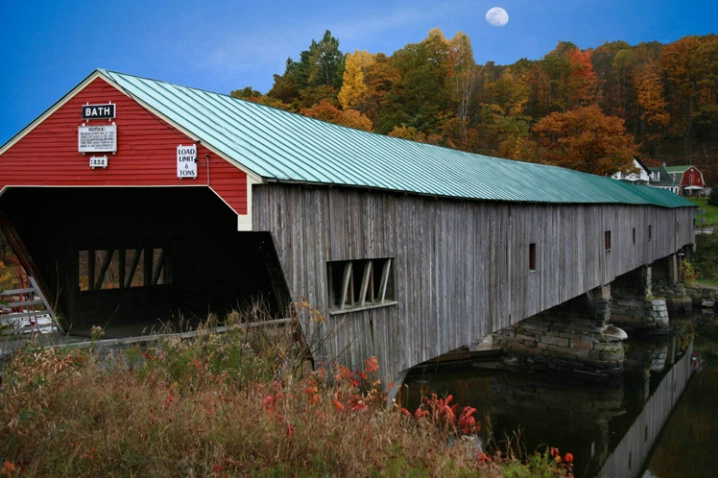 Covered bridge, Bath Vt