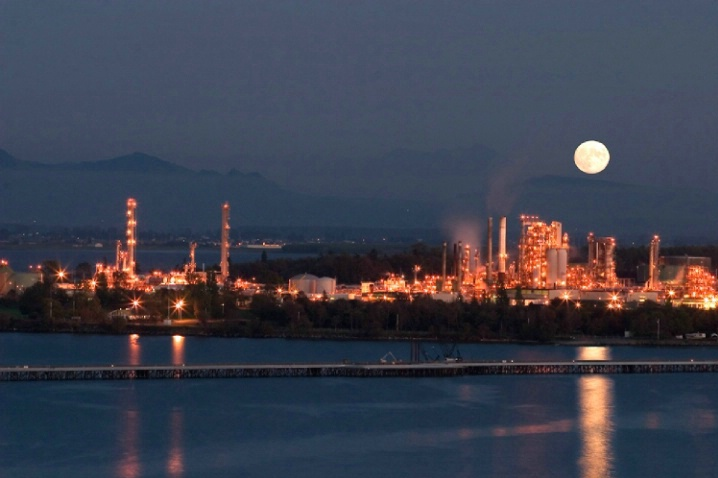 Moonlit Refinery