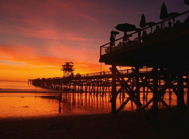 Fisherman's Rest. Sunset - SC Pier