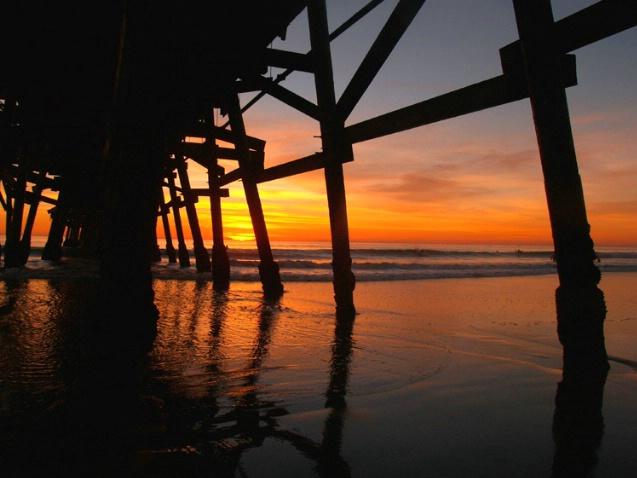 San Clemente Pier Pilings