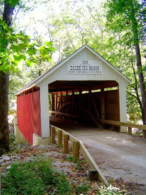 Covered bridge, Parke county, IN