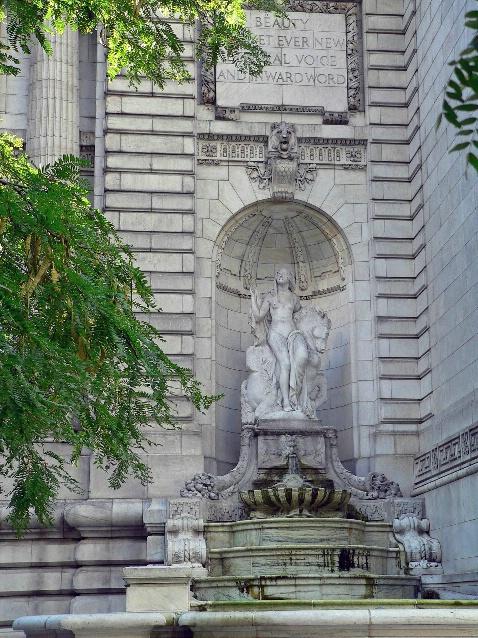 At the Public Library, New York, NY