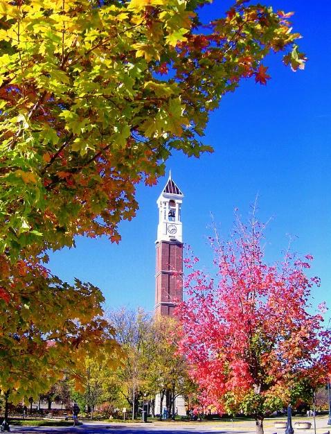 The Bell Tower in Purdue university, West Lafayett