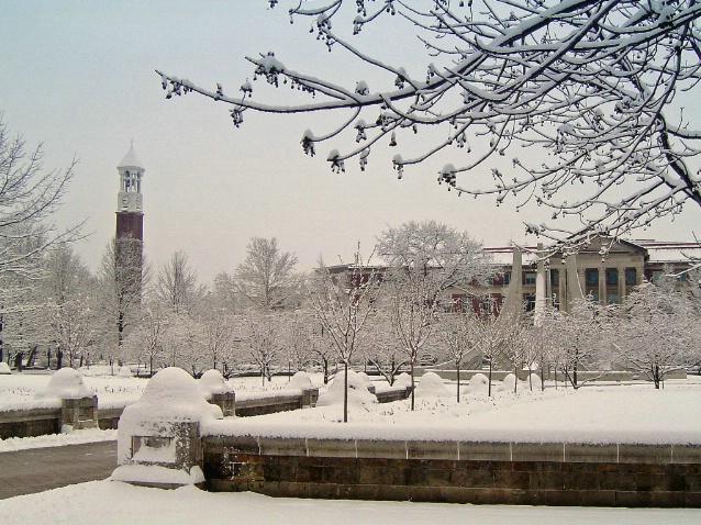 Winter times at Purdue University, West Lafayette,