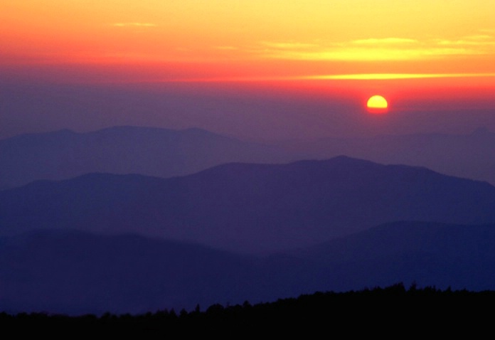 Sunset from Lookout Peak
