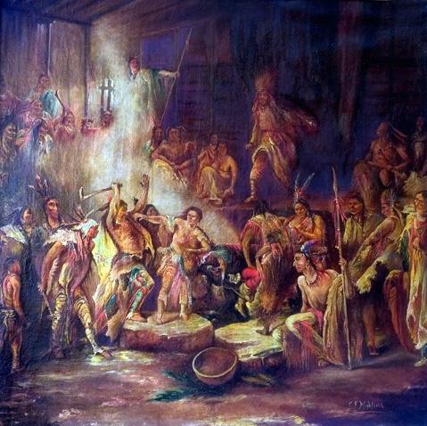 Pocahontas saving the life of Capt. John Smith