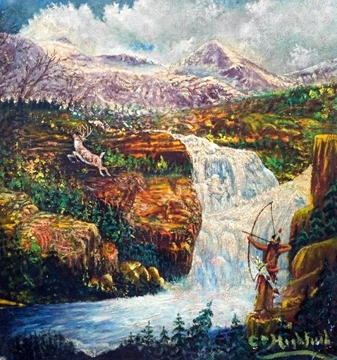 Mountain & Waterfall