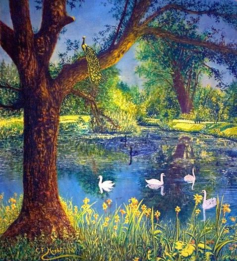 The Pond - A Park Scene