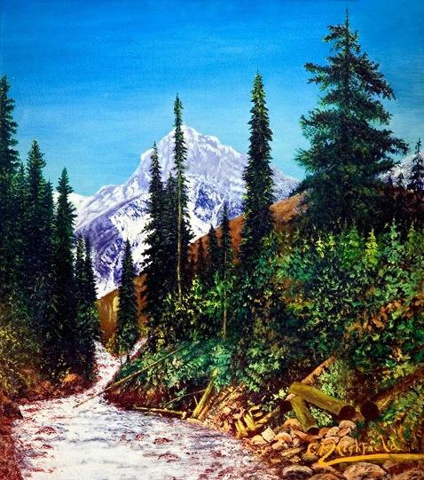 Western Mountain Scene