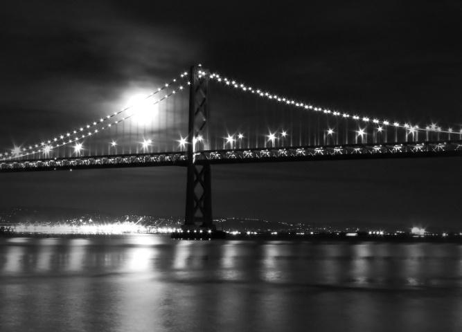 Lunar Eclipse of the Bay Bridge