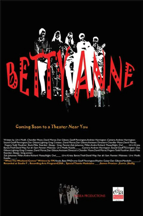 BETTYANNE MOVIE POSTER/Adobe InDesign & Photoshop