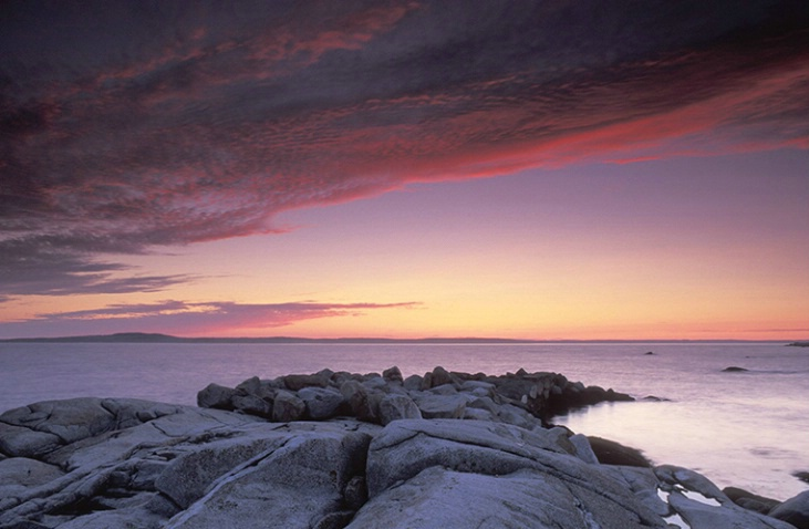 Ocean Rocks at Sunset