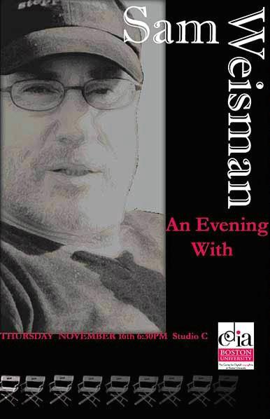 Sam Weisman Poster   Indesign & Photoshop CS2