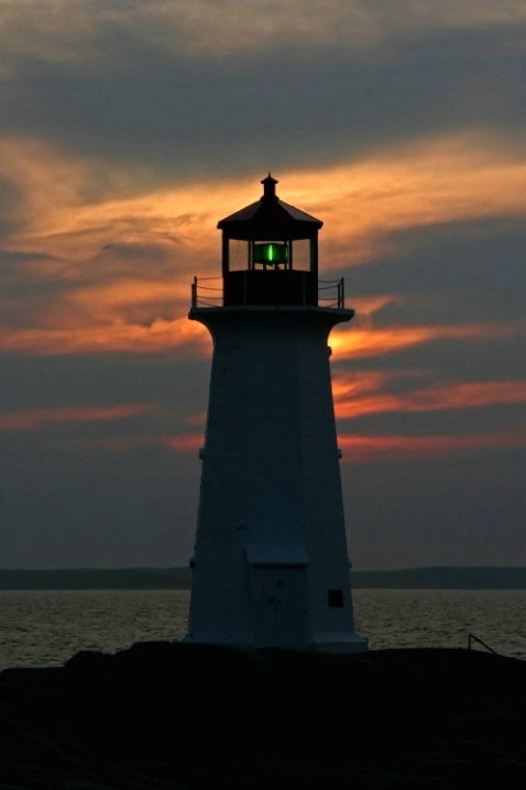 Peggy's Cove Lighthouse Sunset