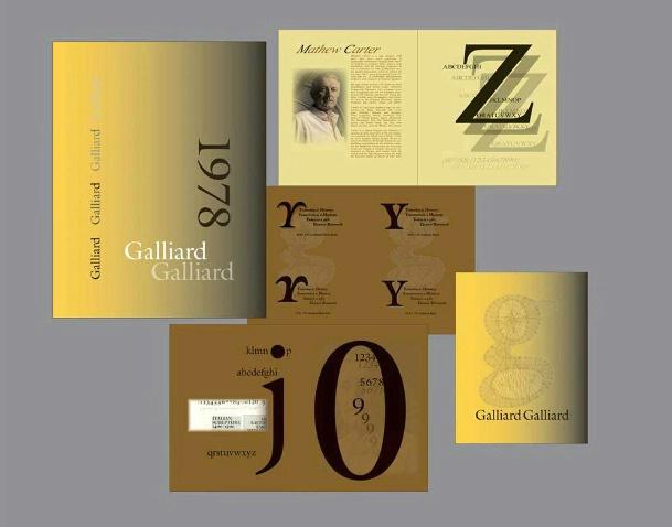 Type Face Book,Galliard