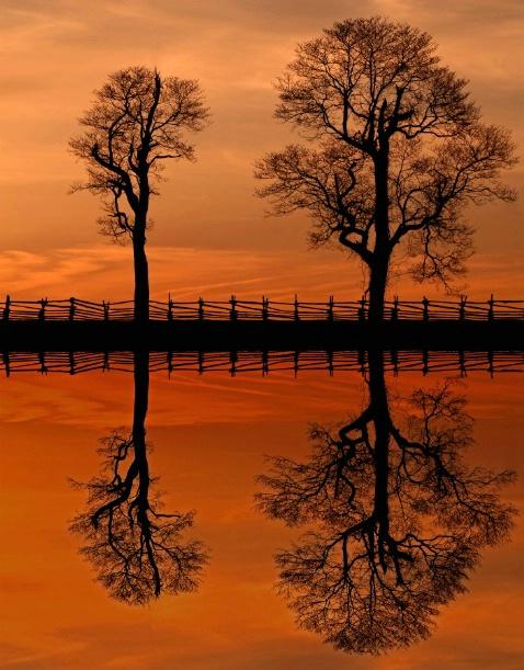 Gettysburg Sunset Reflectiion