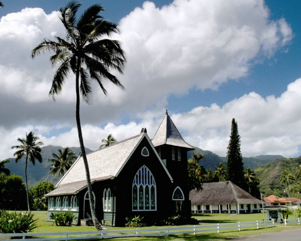Church in Hanalei Bay
