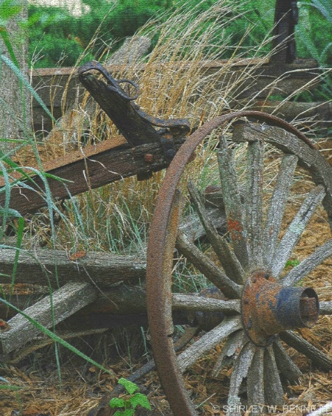 WAGON WHEEL AND AXLE