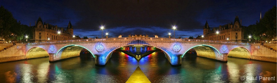 The European Bridge at Night