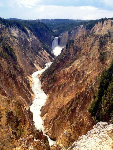 Upper fall, Yellowstone, WY