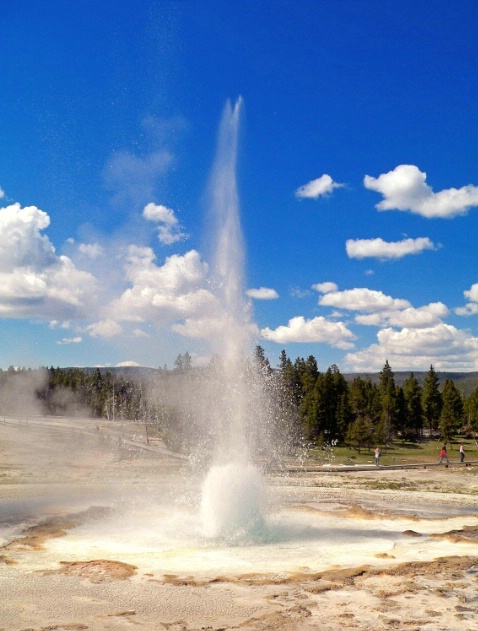 Splash ! Old faithful area, Yellowstone, WY