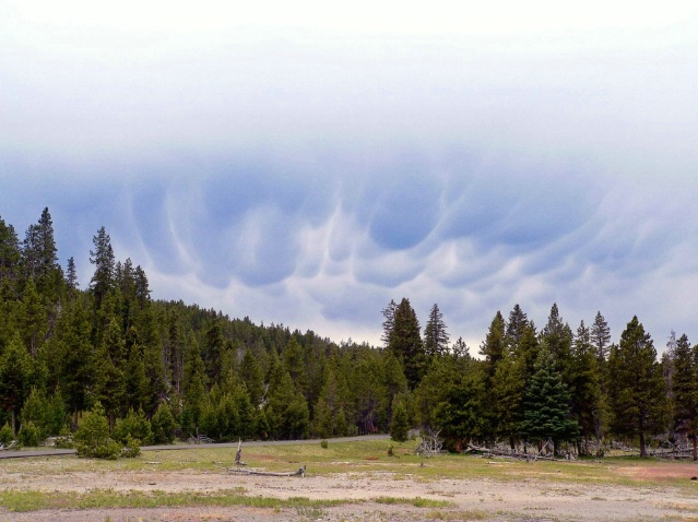 Is a storm coming? Firehole lake drive, Yellowston