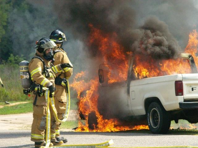 Truck Fire Milton, Florida