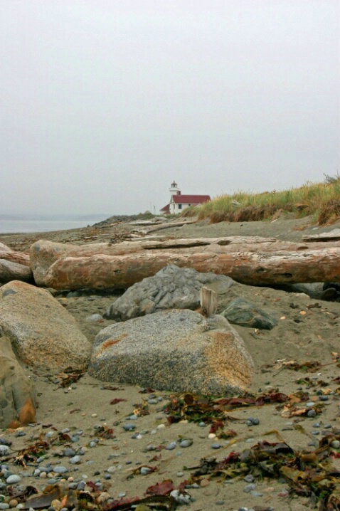 Foggy Morning at Fort Warden Beach