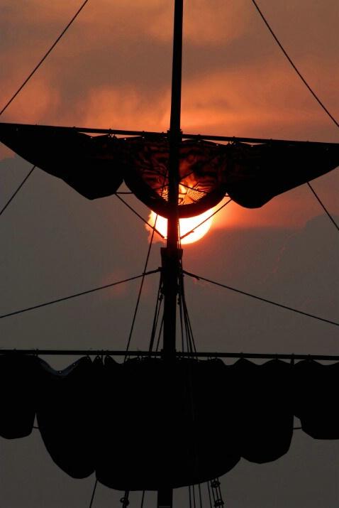 Mast at Sunset
