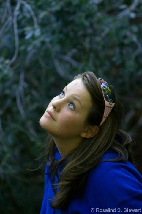Johanna watching the birds