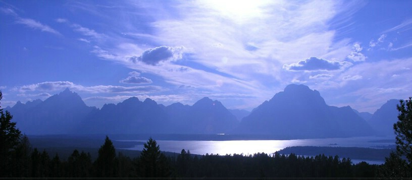 Teton silhouette late afternoon