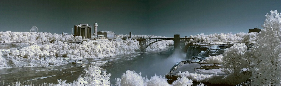 Infrared Panorama of the Falls