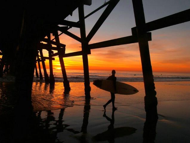 San Clemente Sunset Surfer