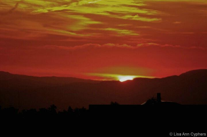 Smokey Sunrise over Southern California