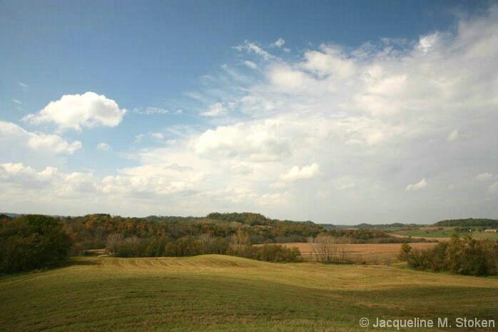 Iowa fields with fall color - NE Iowa