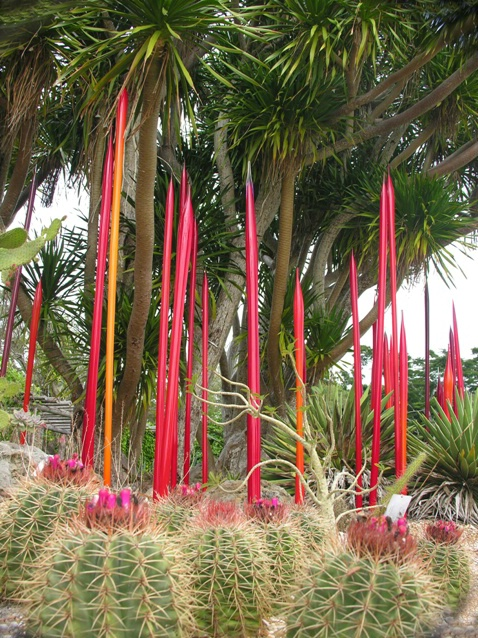 Chihuly at Fairchild:  Cacti