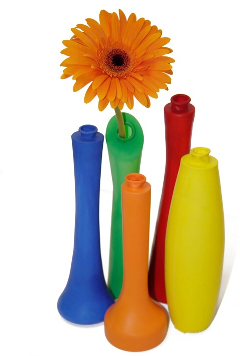 Balloon Vase and an Orange Flower