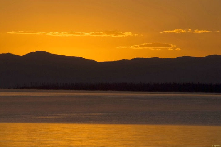 Sunrise on Yellowstone Lake