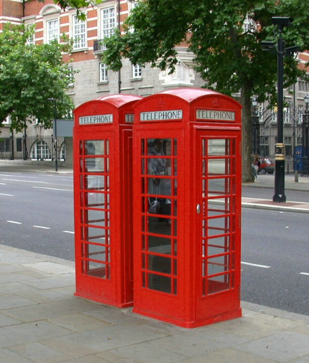 GOING OUT OF STYLE TELEPHONE BOOTH