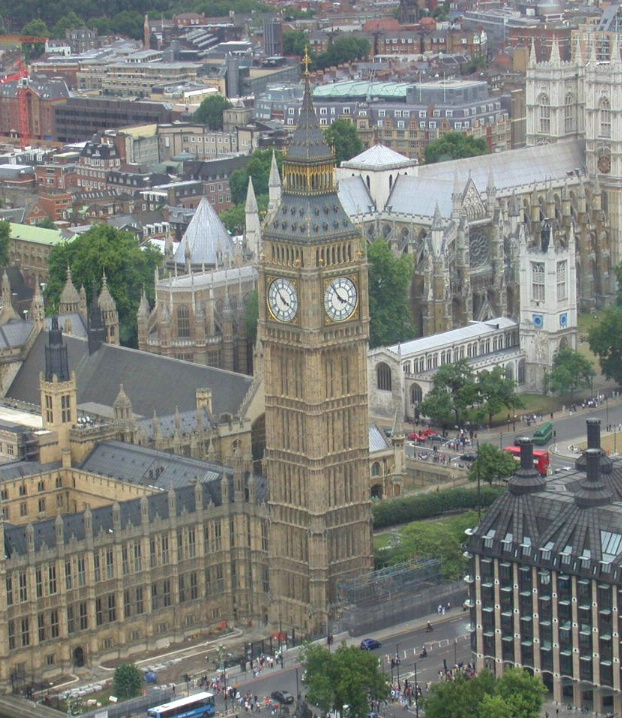 BIG BEN FROM THE LONDON EYE