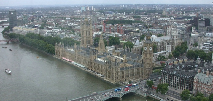 BIG BEN AND PARLIAMENT FROM THE LONDON EYE