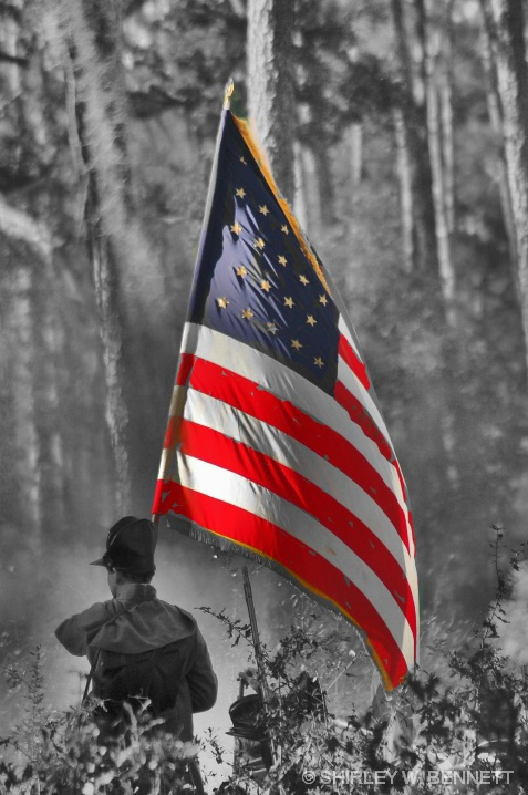 SELECTIVE COLOR WITH FLAG BEARER